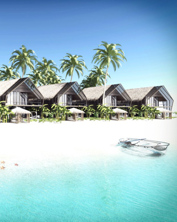Hotel complex in Maldives